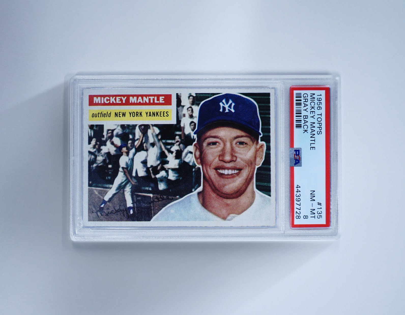 Topps #135 Mickey Mantle Card (PSA 8)