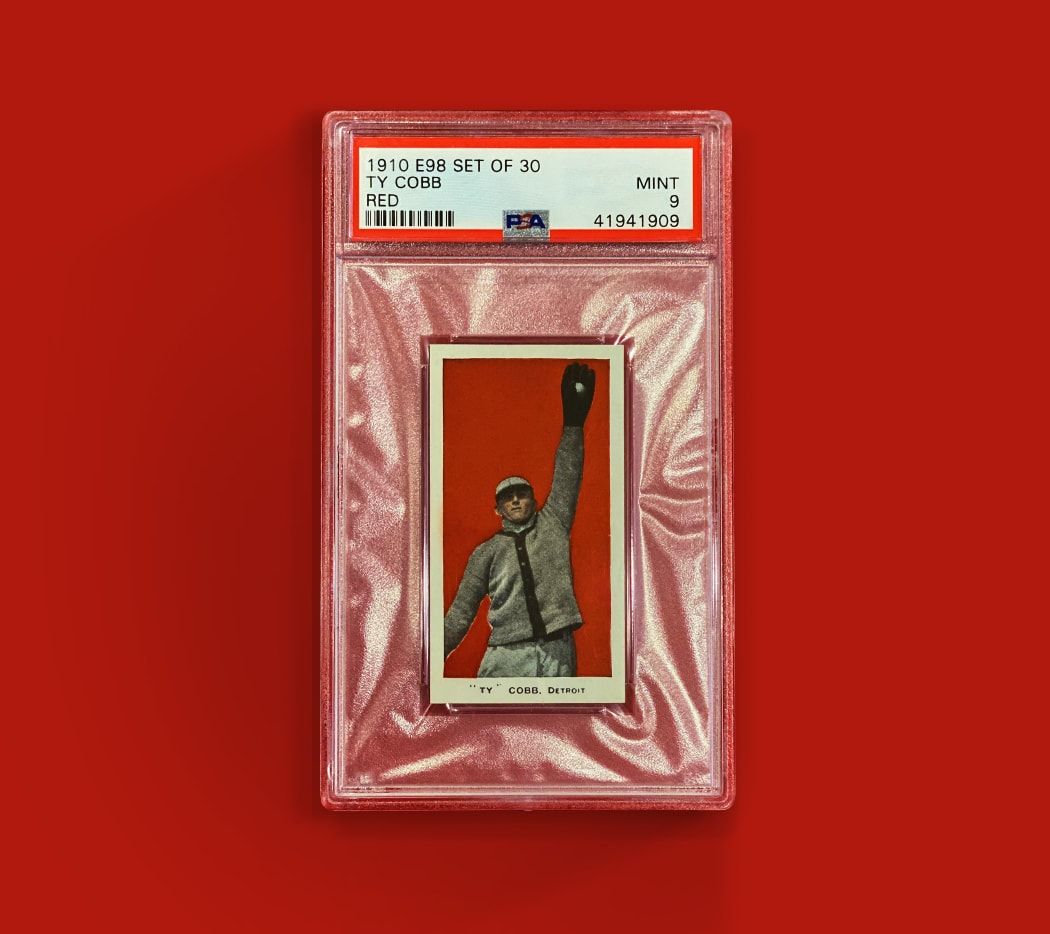1910 Ty Cobb E98 Red Background (PSA 9)