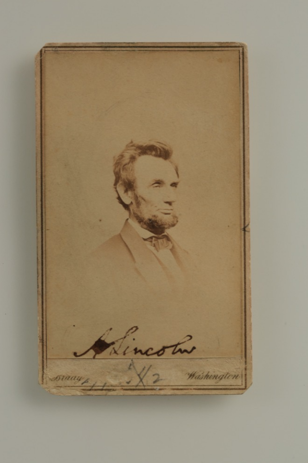 Abraham Lincoln Signed Portrait