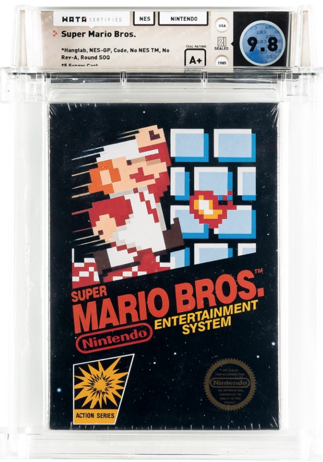 NES Super Mario Bros. (WATA 9.6, Seal A+)