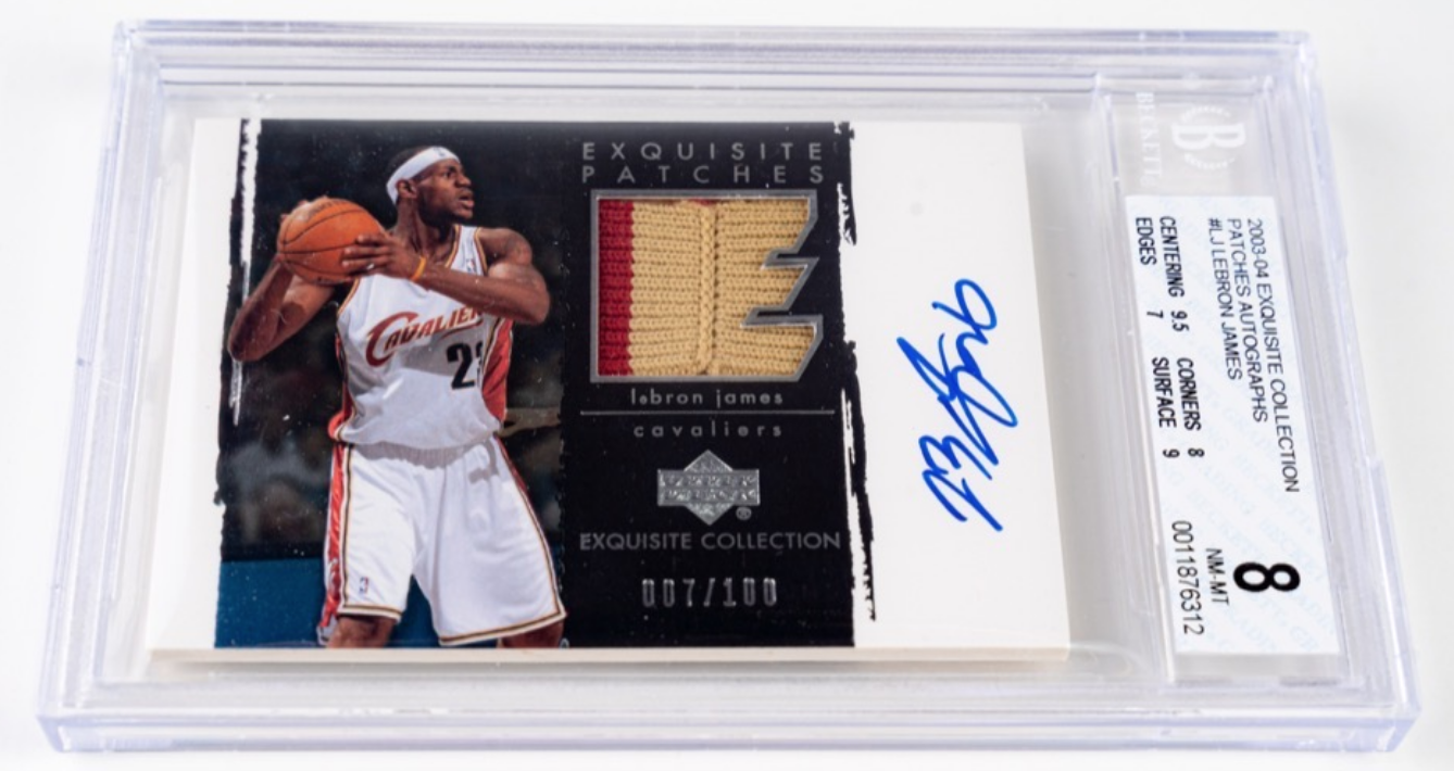 UD Exquisite Collection Lebron James Card (BGS 8)