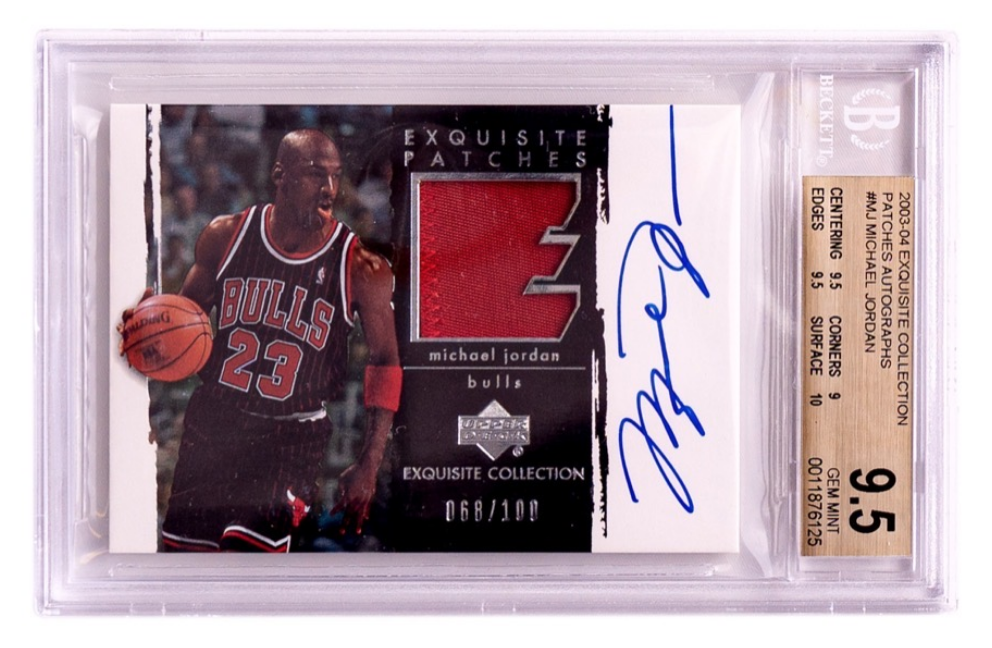 UD Exquisite Collection Michael Jordan Card (BGS 9.5)
