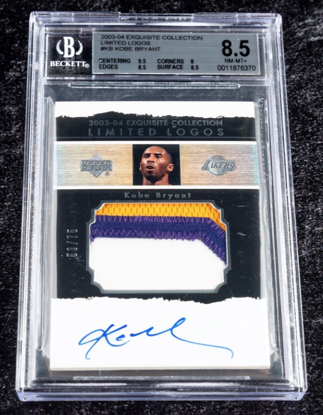 UD Exquisite Collection Kobe Bryant Card (BGS 8.5)