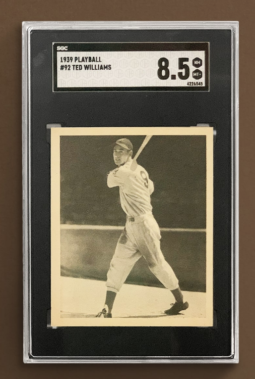 Play Ball Ted Williams Rookie Card (SGC 8.5)