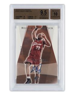 2003 SP Authentic #148 Lebron James Autographed Rookie Card (BGS 9.5, BGS Auto 10)