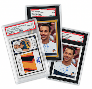 Steph Curry Signed Rookie Cards Basket