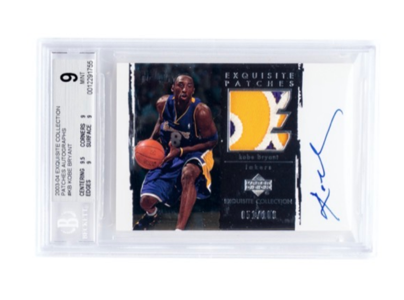 UD Exquisite Patches Kobe Bryant Card (BGS 9)
