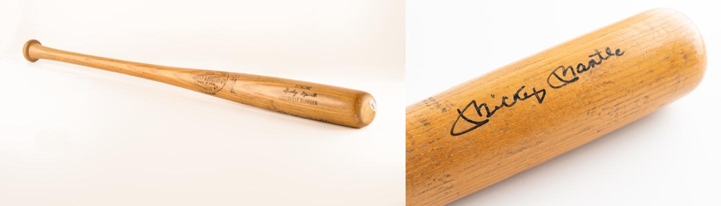 Mickey Mantle World Series Bat (Signed, PSA/DNA GU 9)