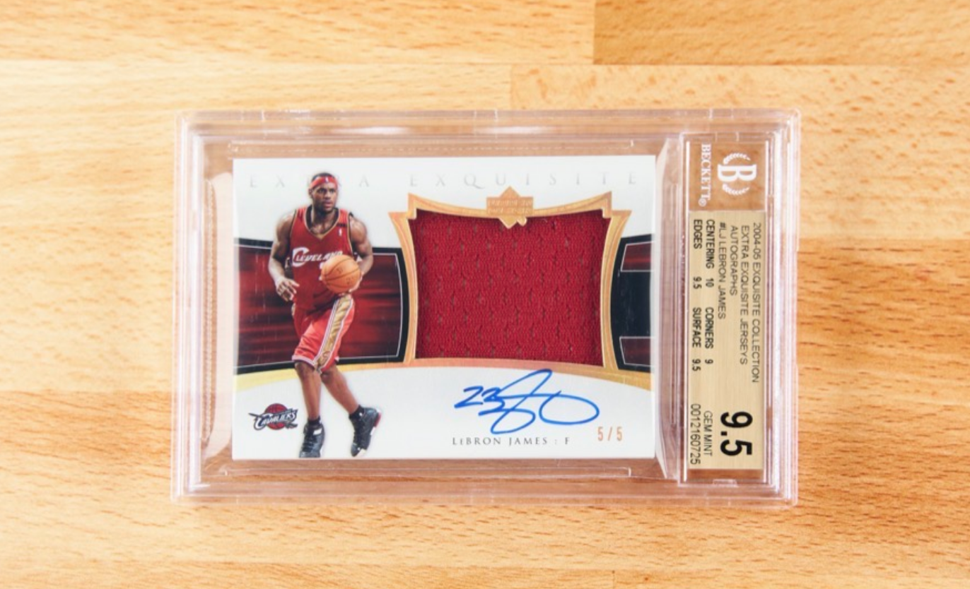 UD Extra Exquisite Lebron James Card (BGS 9.5)