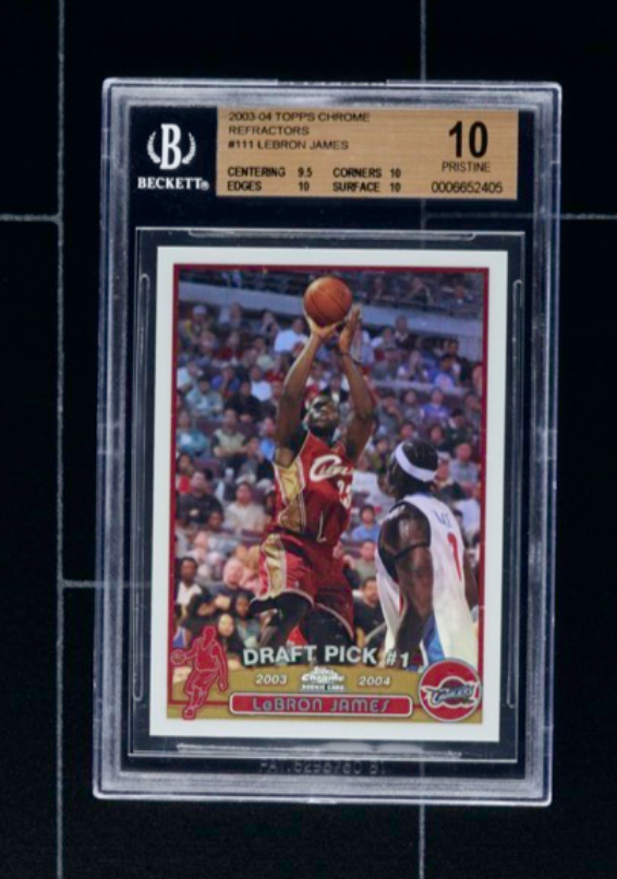 Topps Chrome Refractor Lebron James Rookie Card (BGS 10)