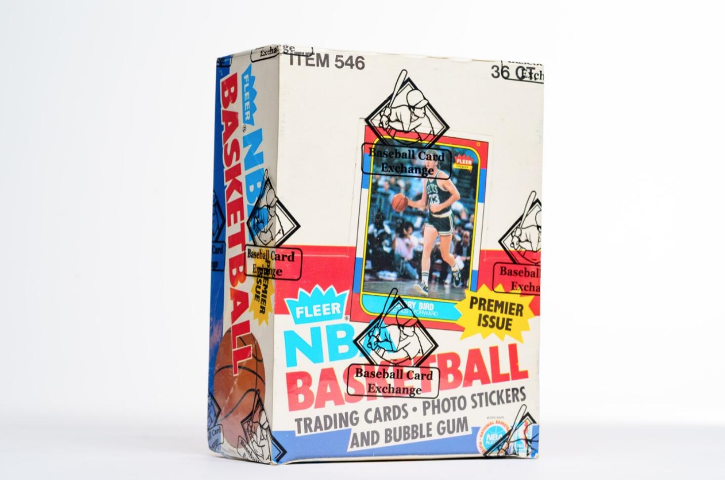 1986 Fleer Basketball Sealed Wax Box