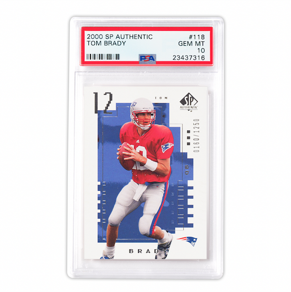 2000 SP Authentic Tom Brady Rookie Card (PSA 10)