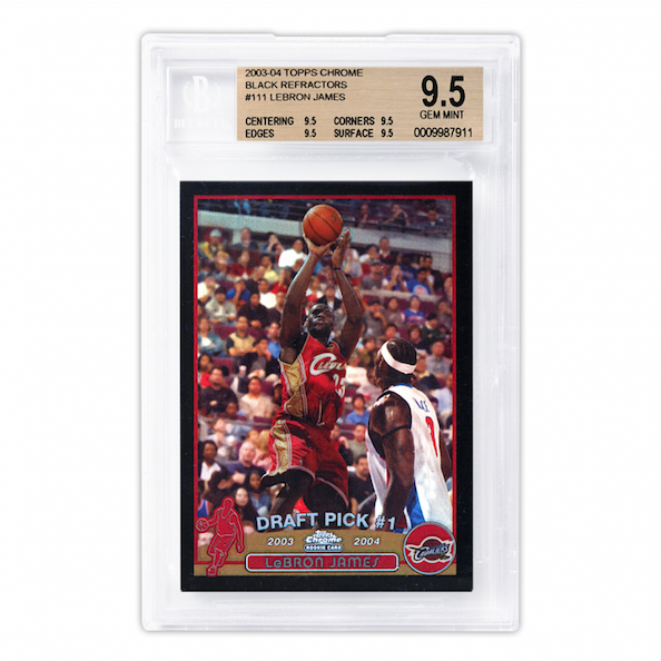 Topps Chrome Lebron James Rookie Black Refractor Card (BGS 9.5)