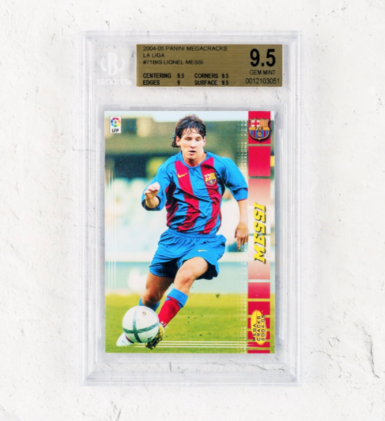 Panini Lionel Messi Rookie Card (BGS 9.5)
