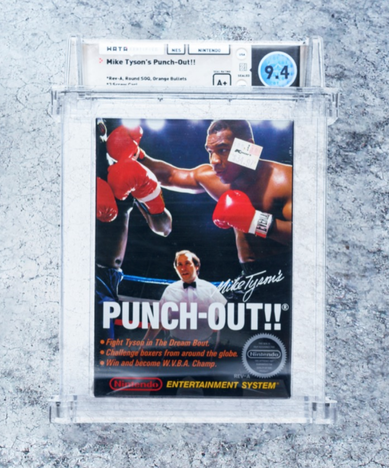 NES Mike Tyson's Punch-Out!! (WATA 9.4, Seal A+)