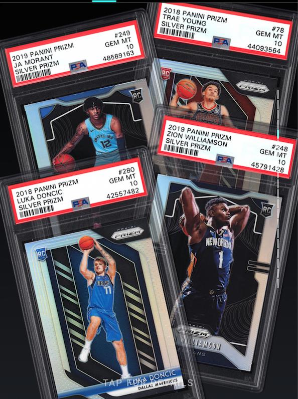 2018-19 Panini Prizm Rookie Basket: Luka, Zion, Ja, Trae (2 of each, PSA 10)