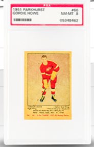 Parkhurst Gordie Howe Rookie Card (PSA 8)