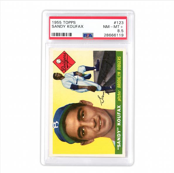 1955 Topps #123 Sandy Koufax Rookie Card (PSA 8.5)