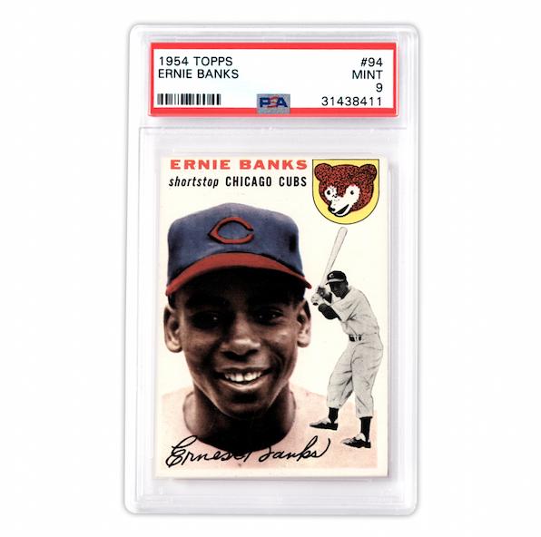 Topps Ernie Banks Card (PSA 9)