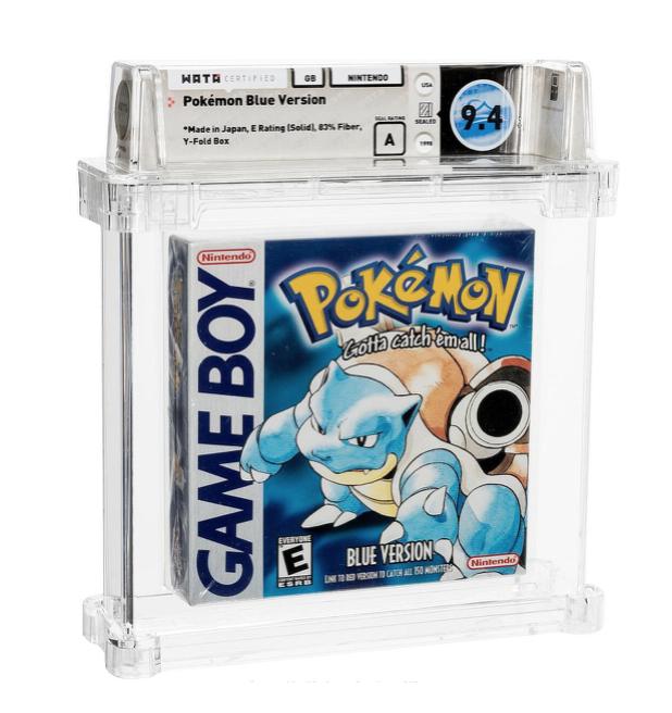 Game Boy Pokémon Blue  (WATA 9.4, Seal A)