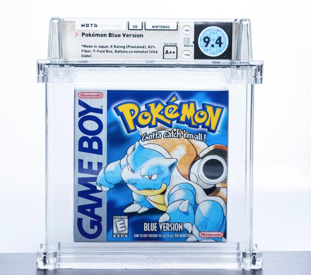 Game Boy Pokémon Blue (WATA 9.4, Seal A++)