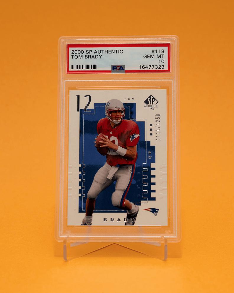 2000 SP Authentic Tom Brady Rookie Card (PSA 10)