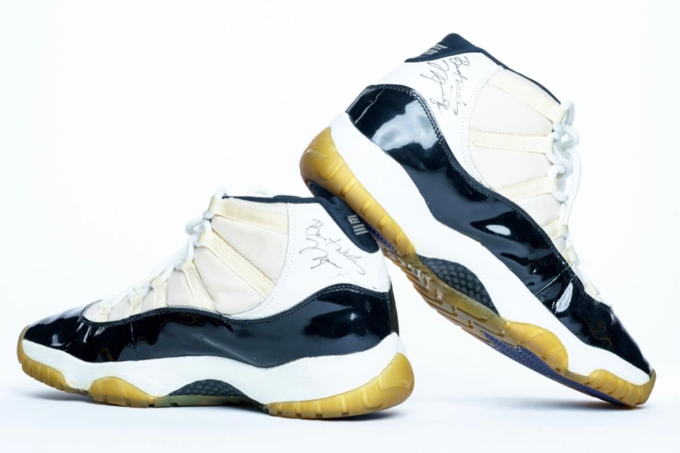 """1996 Michael Jordan Game-Worn Air Jordan 11's """"Concord"""""""