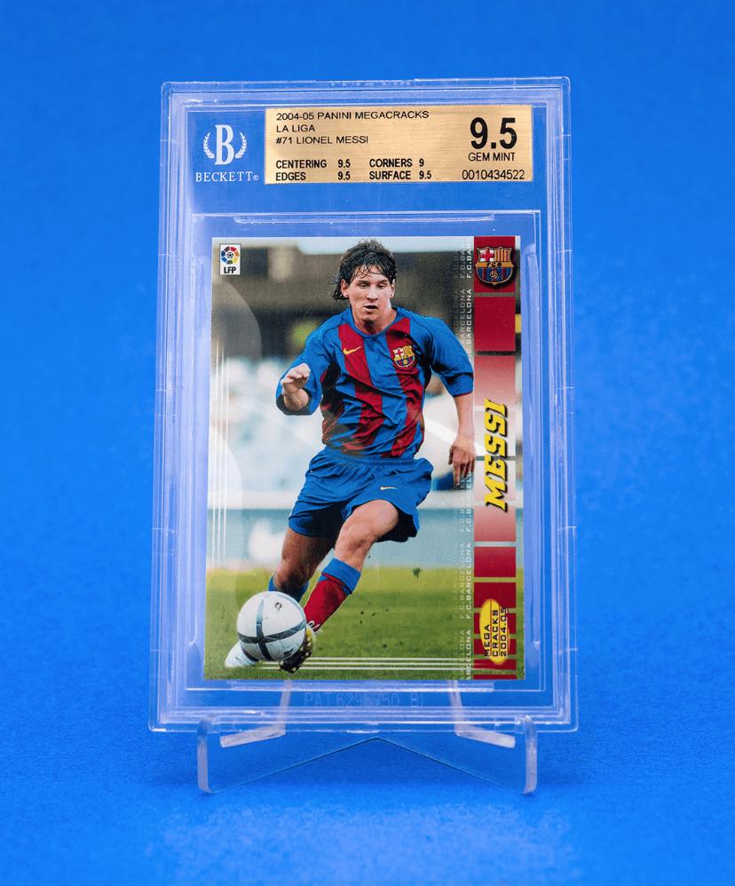2004 Panini Mega Cracks La Liga Lionel Messi Rookie Card (BGS 9.5)
