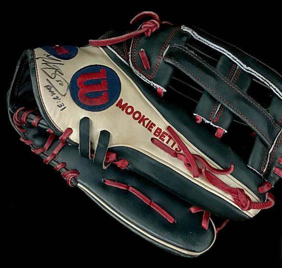 2018 Mookie Betts Gold Glove and MVP Season Glove (Signed)