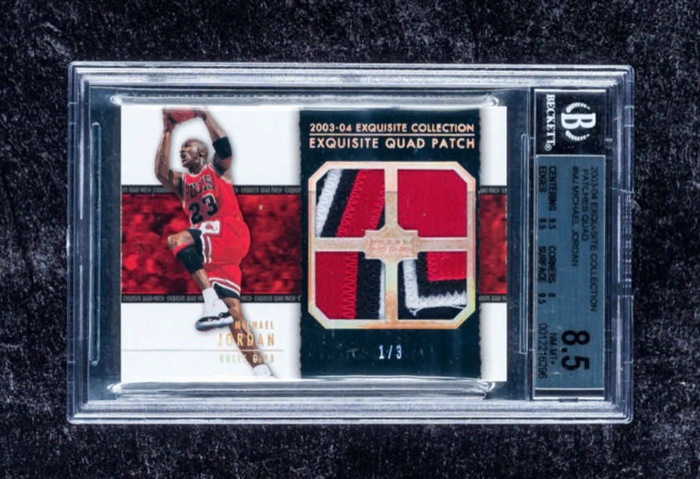 2003 Exquisite Quad Patch Michael Jordan Card (BGS 8.5)