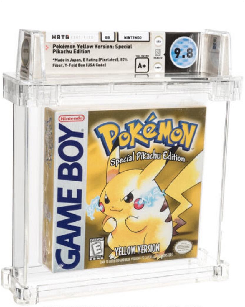 1998 Game Boy Pokemon Yellow Pikachu Edition (WATA 9.8, Seal A+)