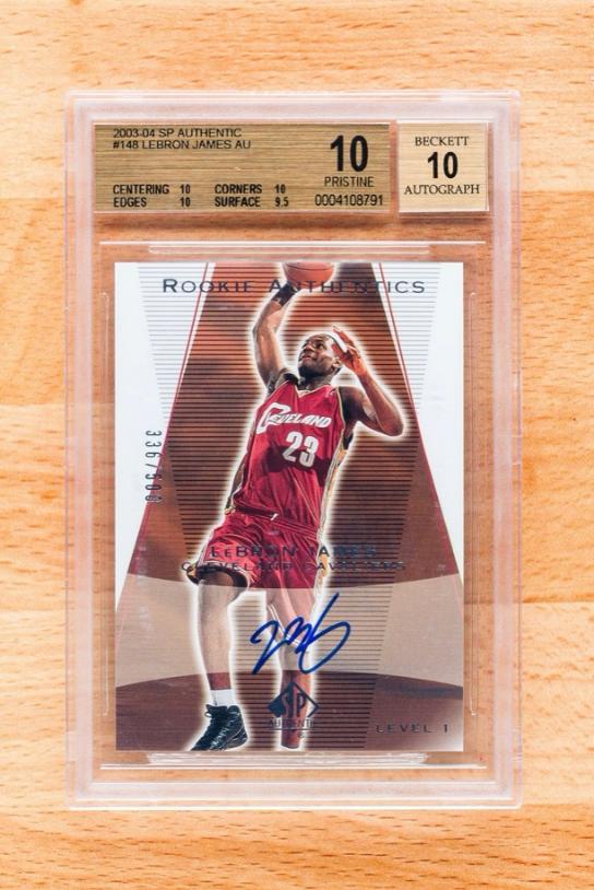 2003 SP Authentic Lebron James Autographed Rookie Card (BGS10, Auto 10)