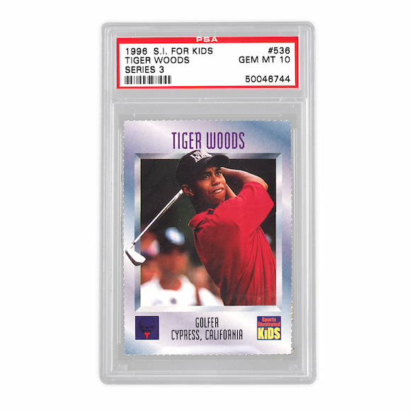 1996 Sports Illustrated for Kids Tiger Woods Card (PSA 10)