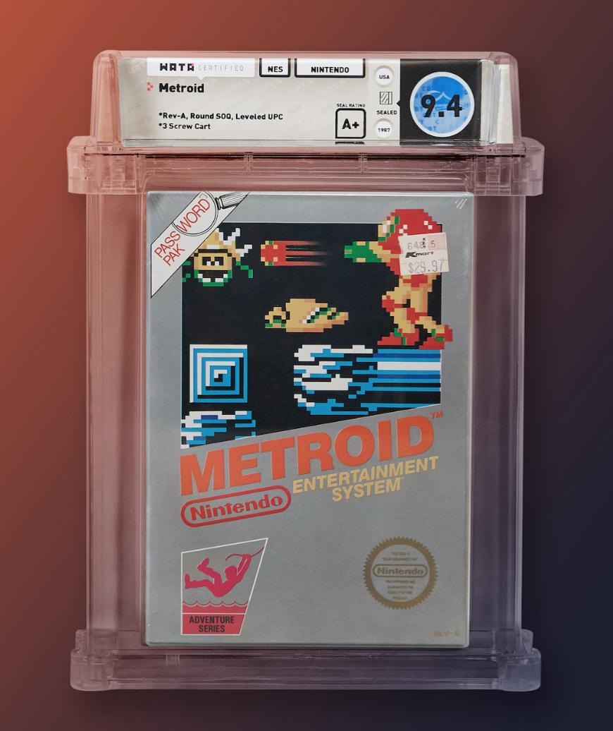 1987 NES Metroid (WATA 9.4, Seal A+)