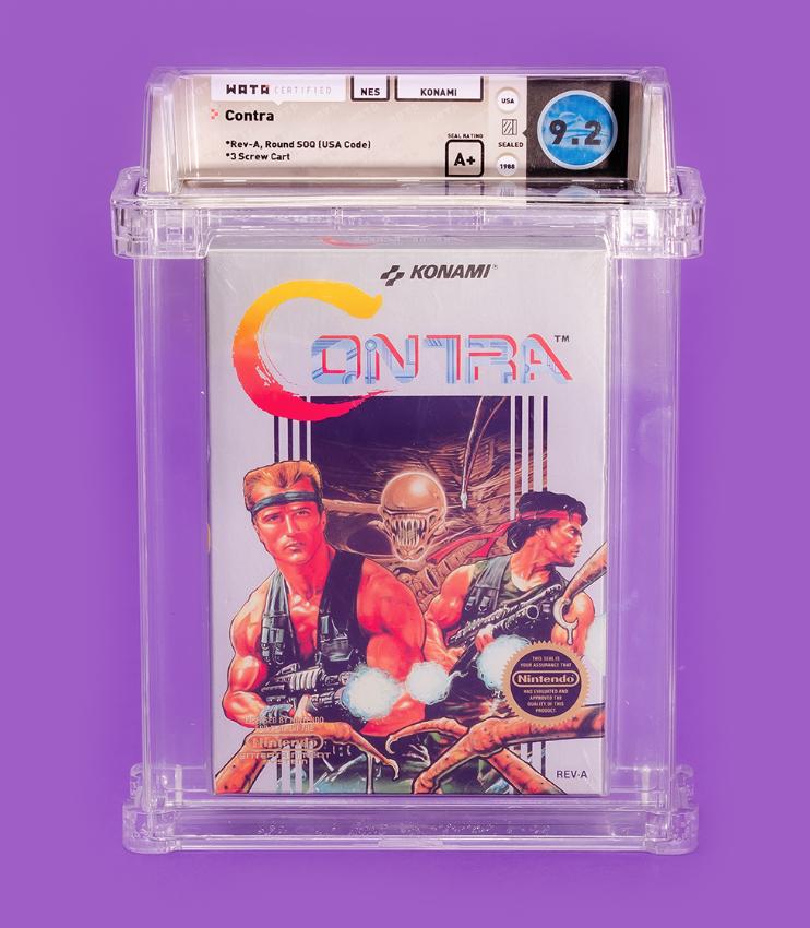 1988 NES Contra (WATA 9.2, Seal A+)