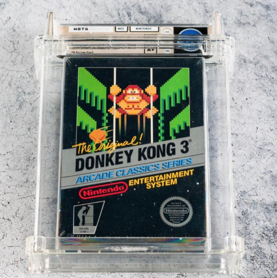 1986 NES Donkey Kong 3 (WATA 9.2, Seal A+)