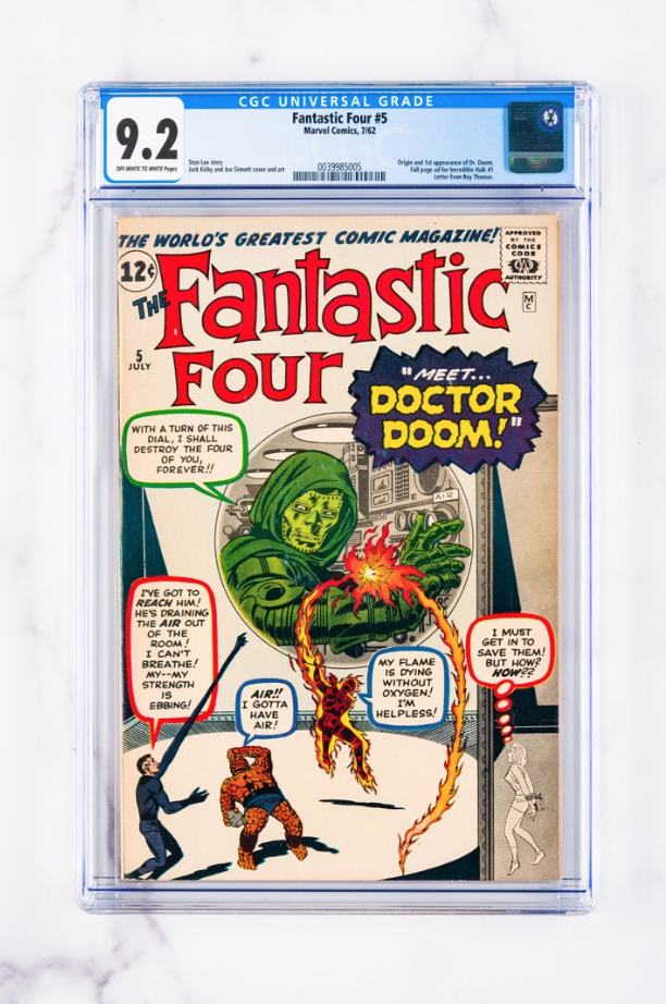 1962 Marvel Fantastic Four #5 (CGC 9.2)