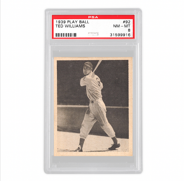 1939 Play Ball Ted Williams Card (PSA 8)