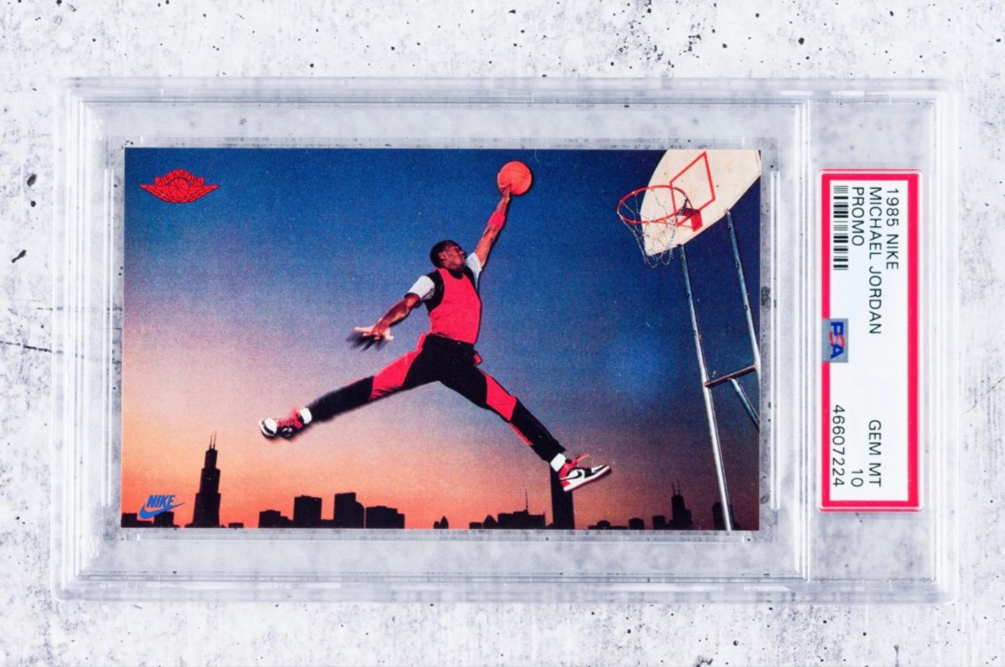 1985 Nike Michael Jordan Rookie Promo Card (PSA 10)