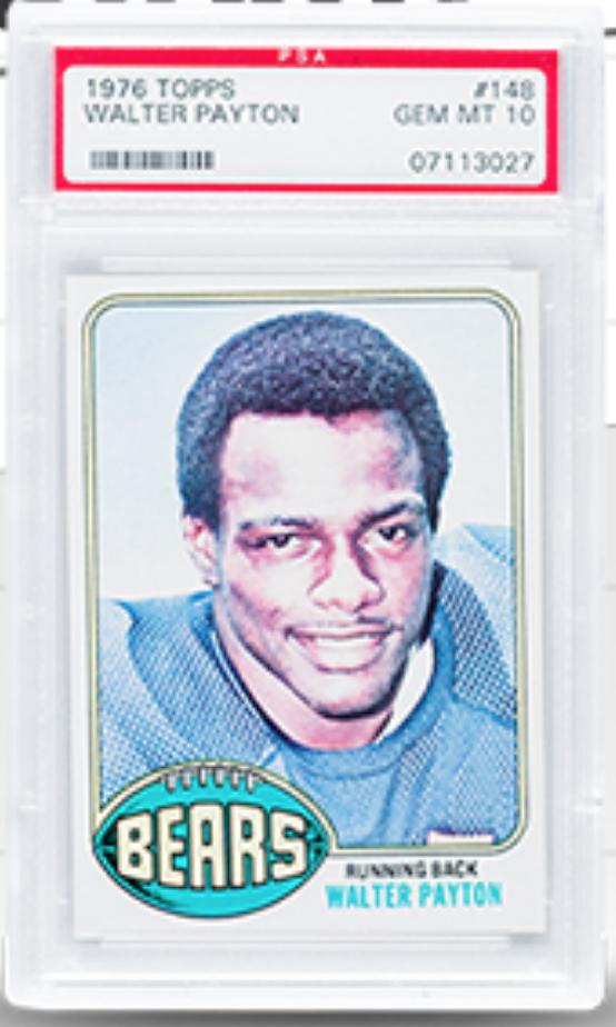 1976 Topps Walter Payton Rookie Card (PSA 10)