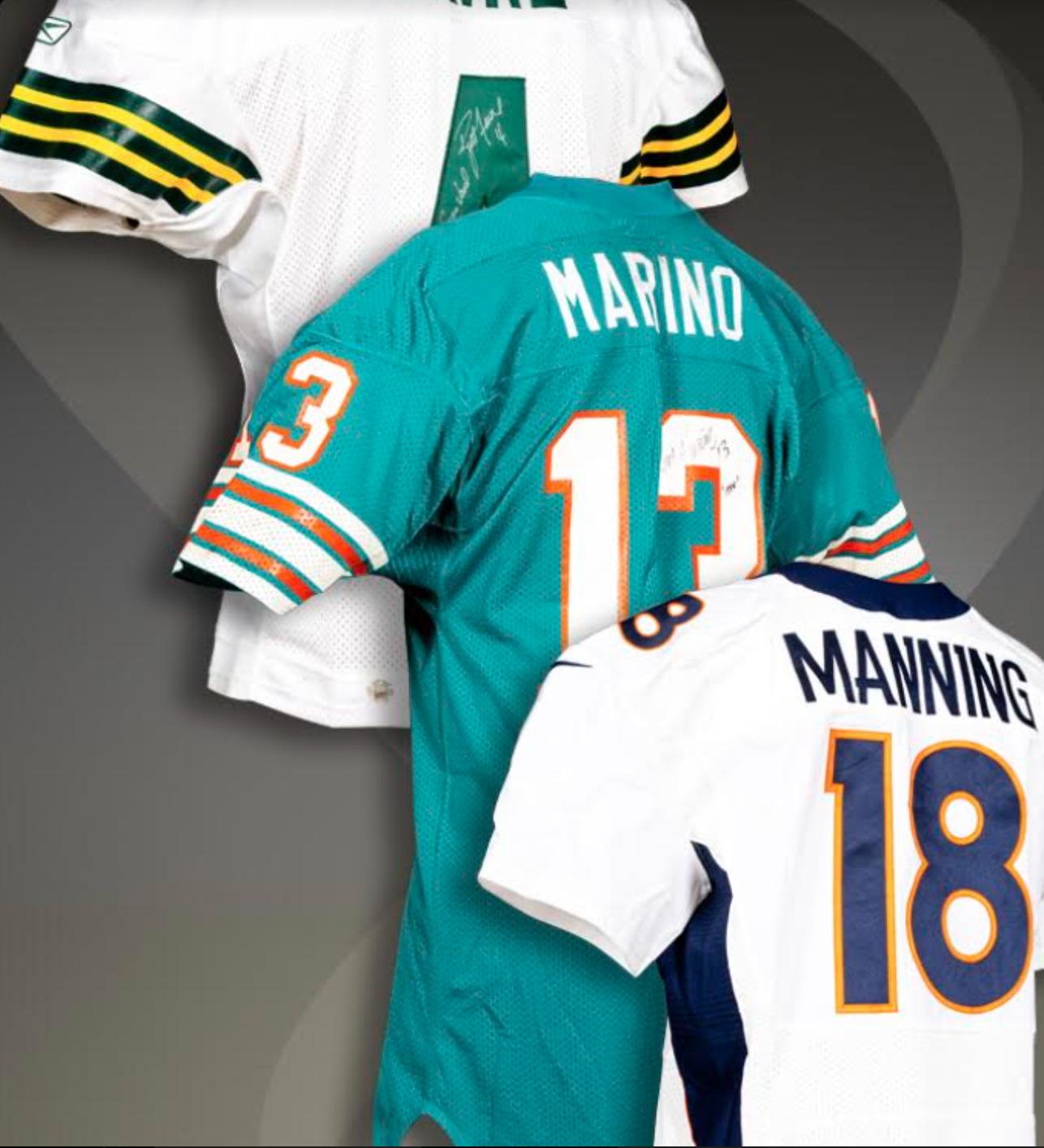 Game Used Jersey Basket (Manning, Favre, Marino)