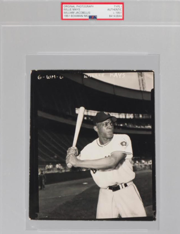 1951 Bowman Original Willie Mays Photo