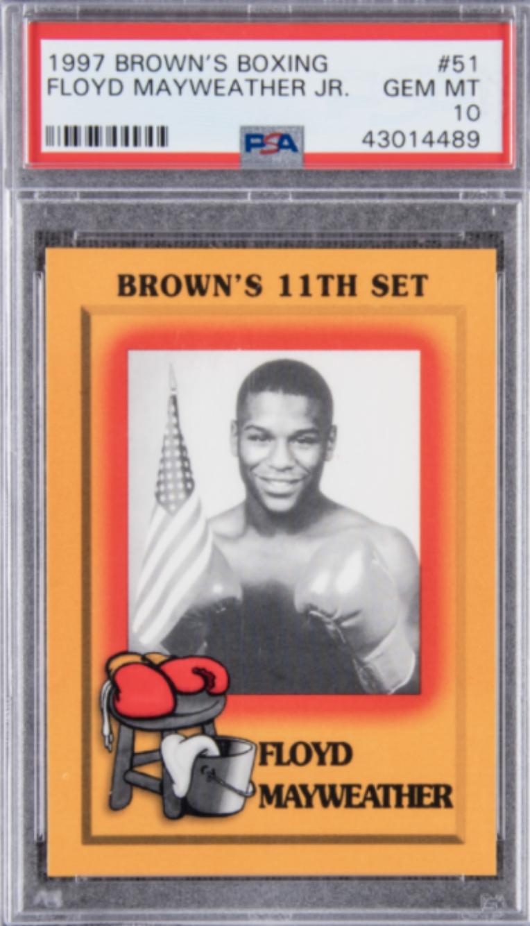 1997 Brown's Boxing #51 Floyd Mayweather Jr Rookie Card (PSA 10)