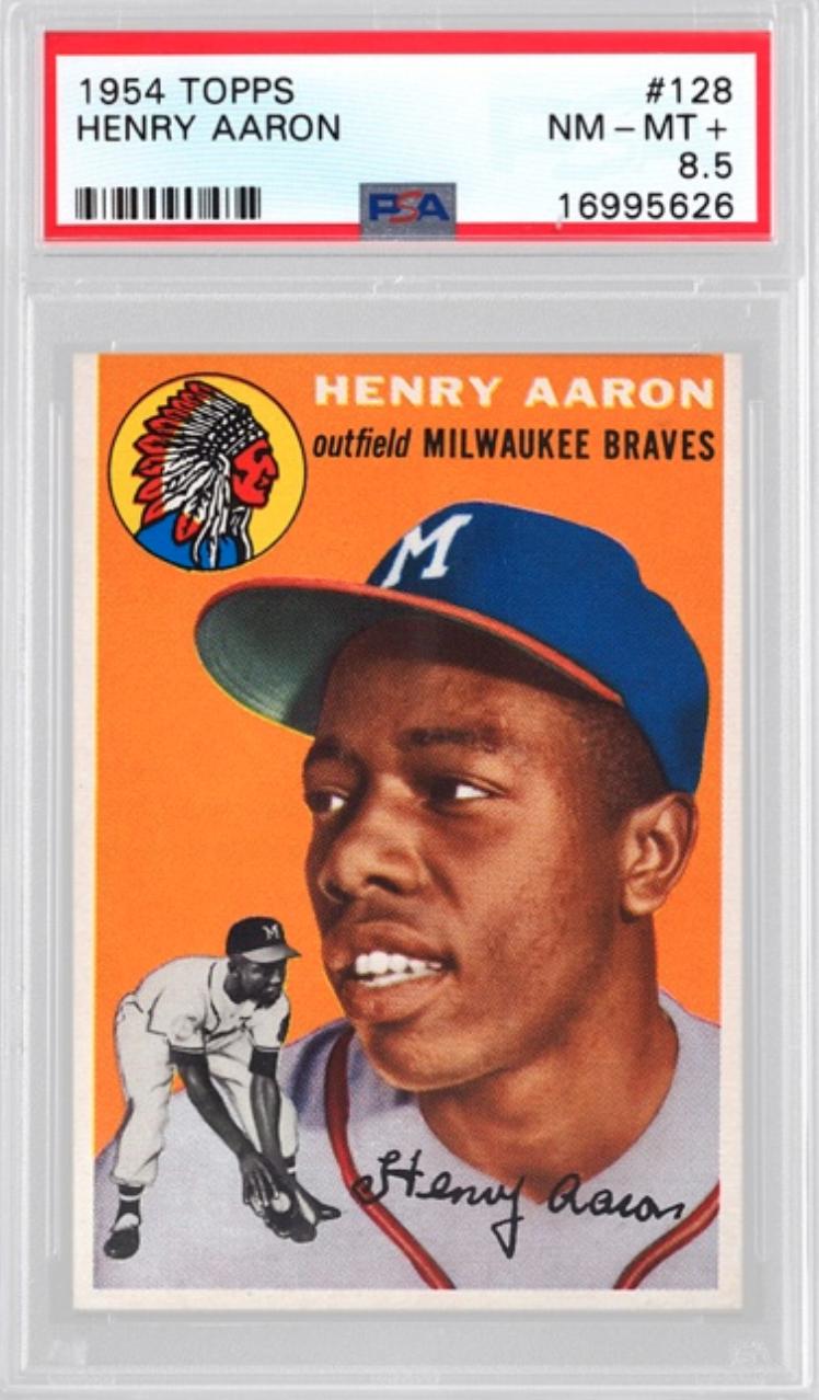 1954 Topps Hank Aaron Rookie Card (PSA 8.5)