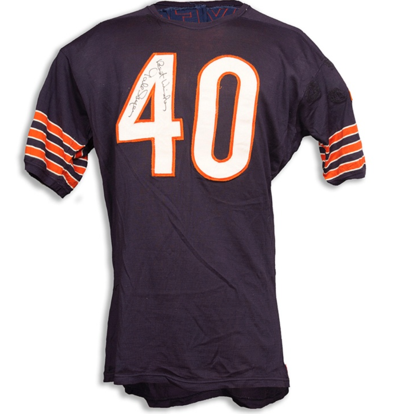 1960s Game Worn & Signed Gale Sayers Jersey