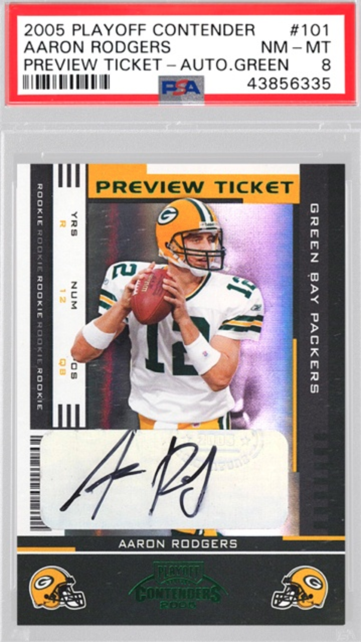 2005 Playoff Contenders Aaron Rodgers Rookie Card (PSA 8)