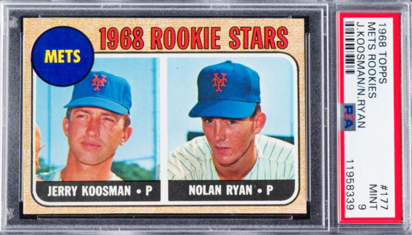 1968 Topps Nolan Ryan Rookie Card (PSA 9)
