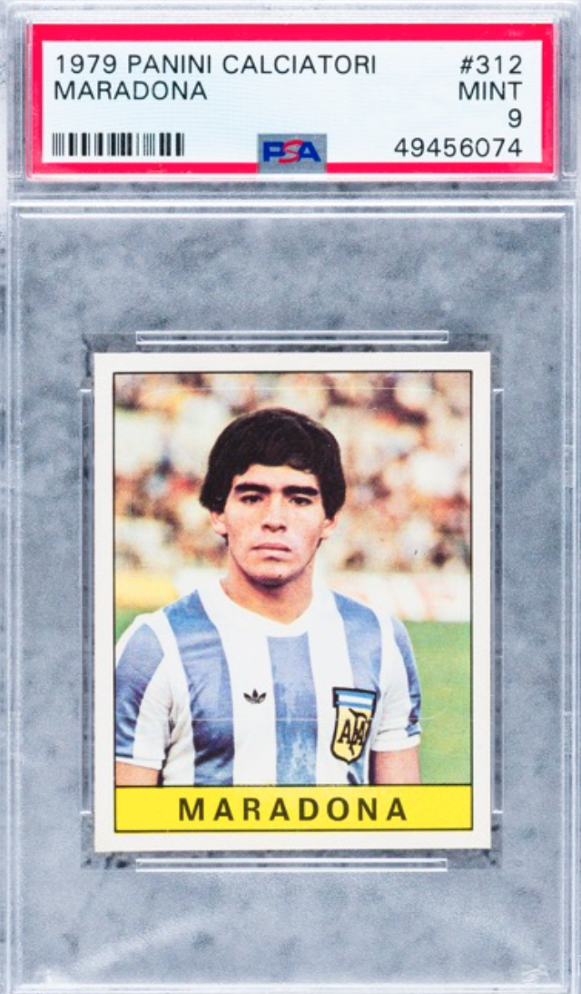 1979 Panini Diego Maradona Rookie Card (PSA 9)