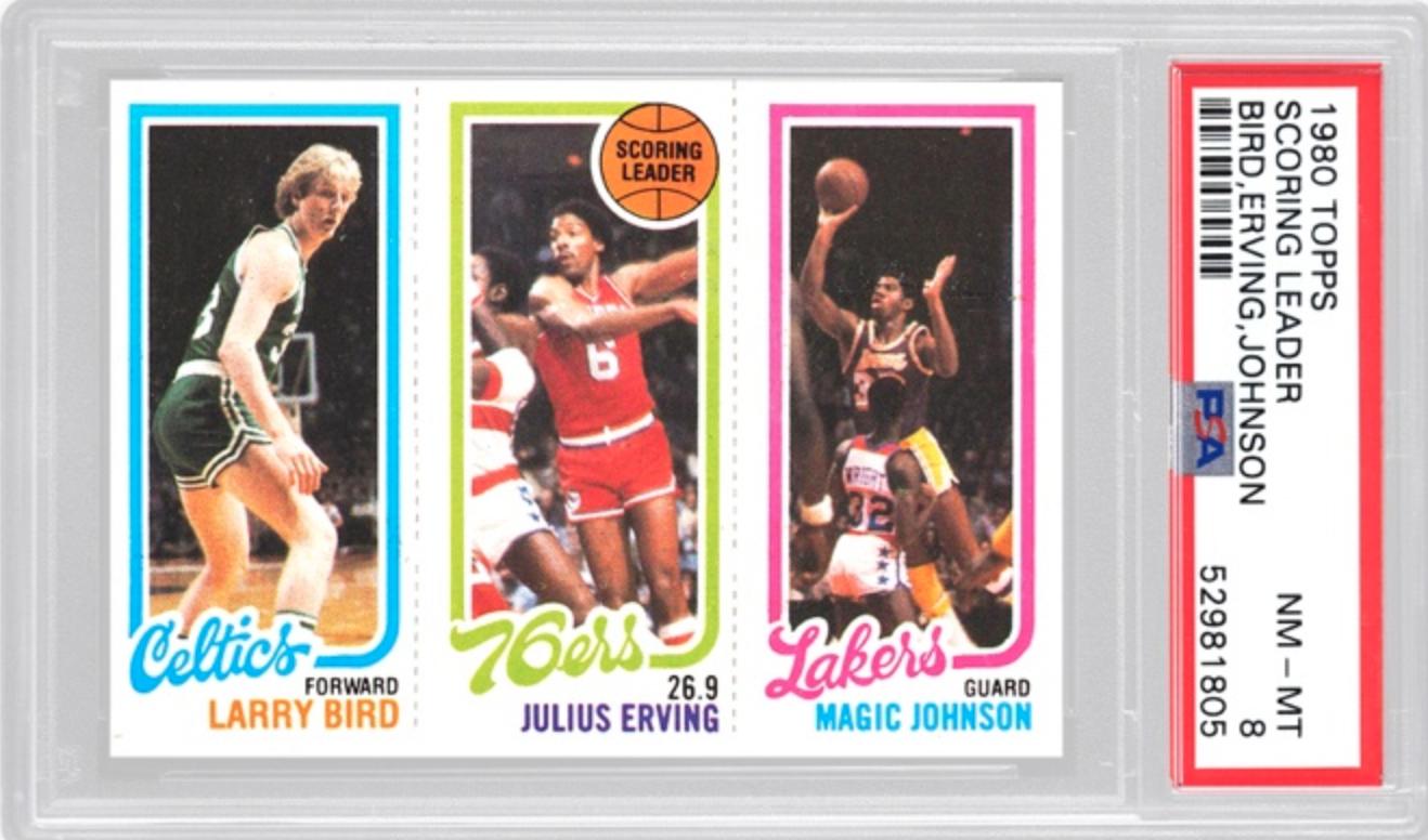 1980 Scoring Leaders Basket 2x (PSA 8)