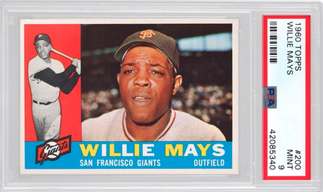 1960 Topps Willie Mays Card